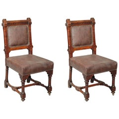 Pair of Arts & Crafts Dining Chairs by J P Seddon
