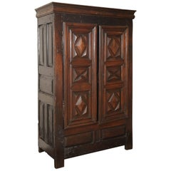 18th Century Louis XIII Walnut Cabinet or Armoire