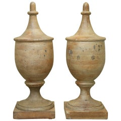 """Pair of Very Large  42.5"""" Vintage Wooden Finials"""