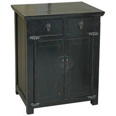 Black Lacquer Bedside Cabinet