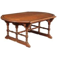 Charles Bevan, Marsh, Jones & Cribb An Aesthetic Movement D End Centre Table