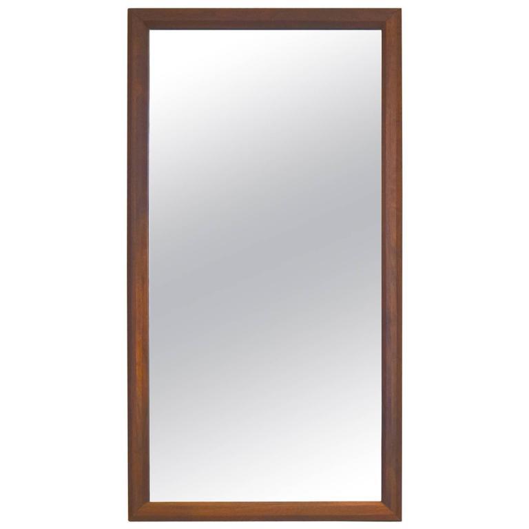 premium solid walnut framed hall or bedroom mirror 1
