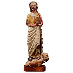 Extraordinary medieval Saint Bartholomew sculpture