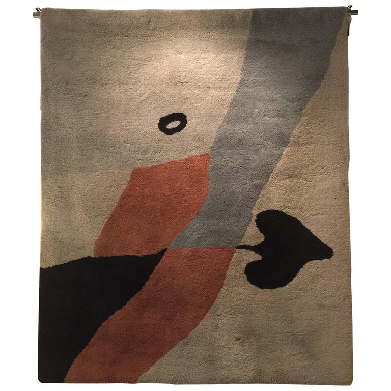 Rug/Wall Art by Jean Arp Edition Marie Cuttoli/Lucie Weill For Sale