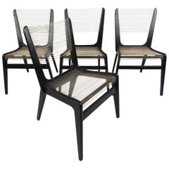Jacques Guillon Cord Chairs
