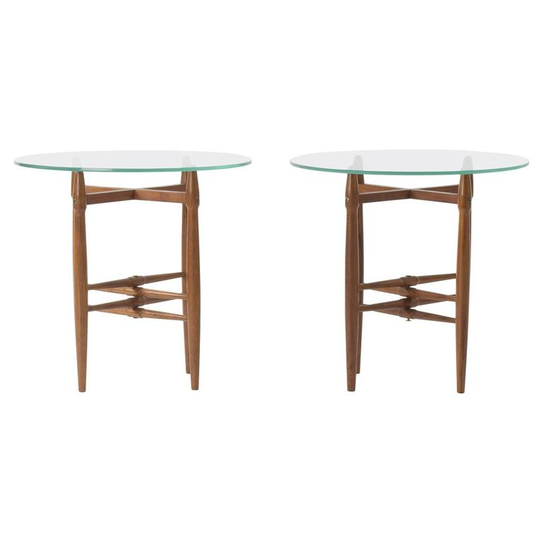 Pair of Mahogany Side Tables by Poul Hundevad