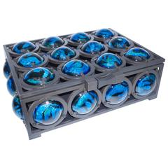 Iron and Blue Lava Stone Jewel Box by Christophe Côme