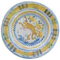 18th-19th Century Spanish Rabbit Plate