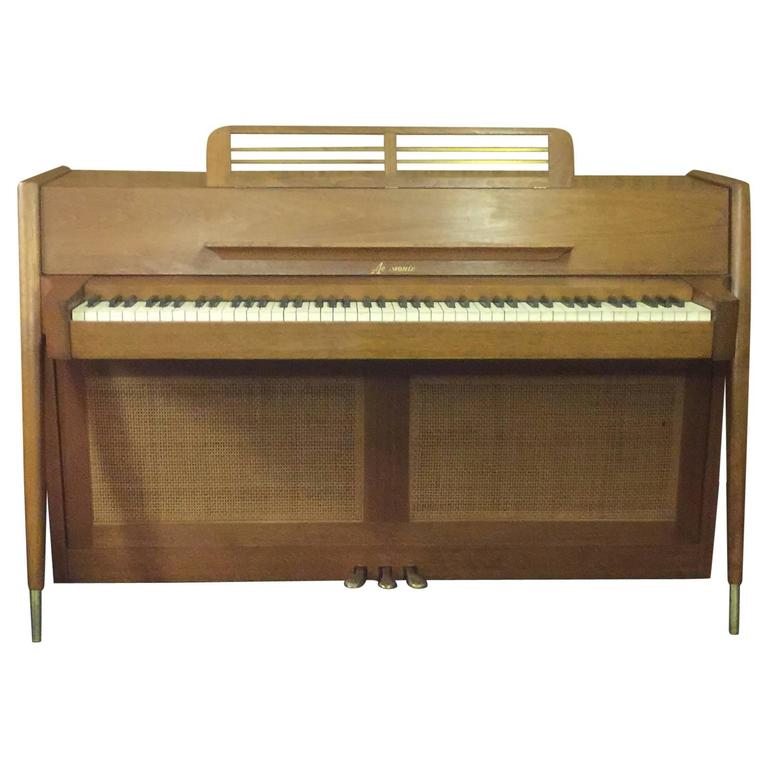 Arcosonic spinet piano by baldwin mid century modern at for Aprire piani moderni