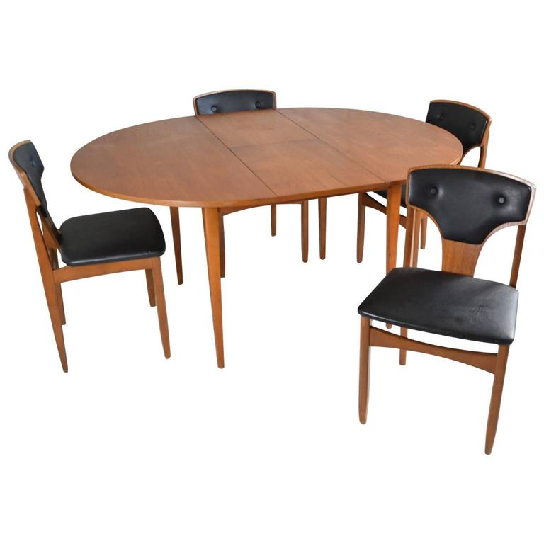 1970s mid century teak extendable dining table and four for 1970 dining room set