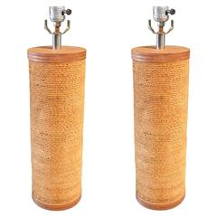 Pair of Cardboard Table Lamps for Raymor