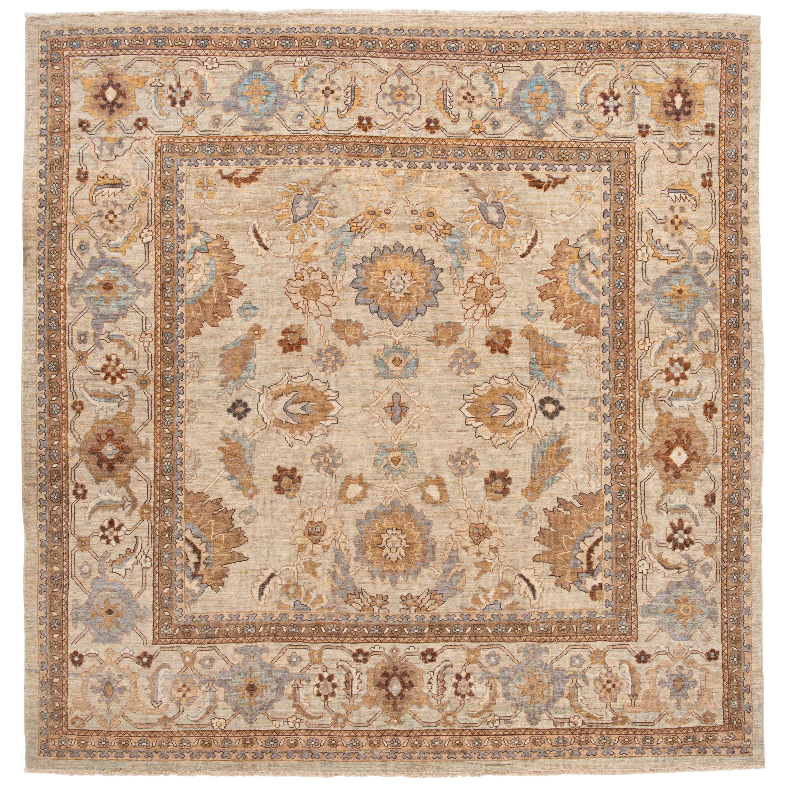 Modern Square Sultanabad Rug