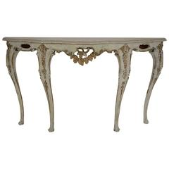 Italian Gilt and Painted Console in Louis XV Style