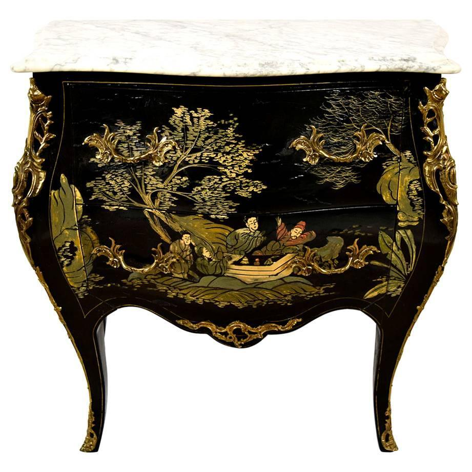 French Vintage Chinoiserie Style Chest Of Drawers At 1stdibs