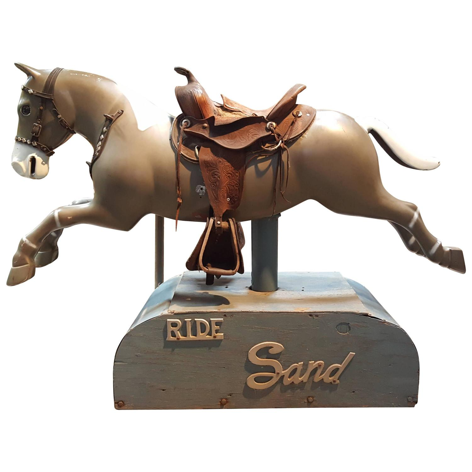 1950s Coin Operated Horse Kiddie Ride At 1stdibs