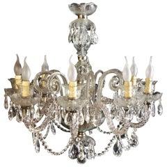 Stunning Vintage Venetian Glass 8 Branch Chandelier