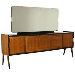 Sideboard with Mirror Rosewood Veneer Italy Cantù, 1940-1950