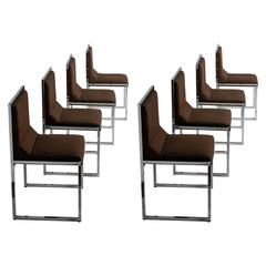"Unique Set of Eight ""Wright/Wright"" Chairs by Nanda Vigo for Driade"