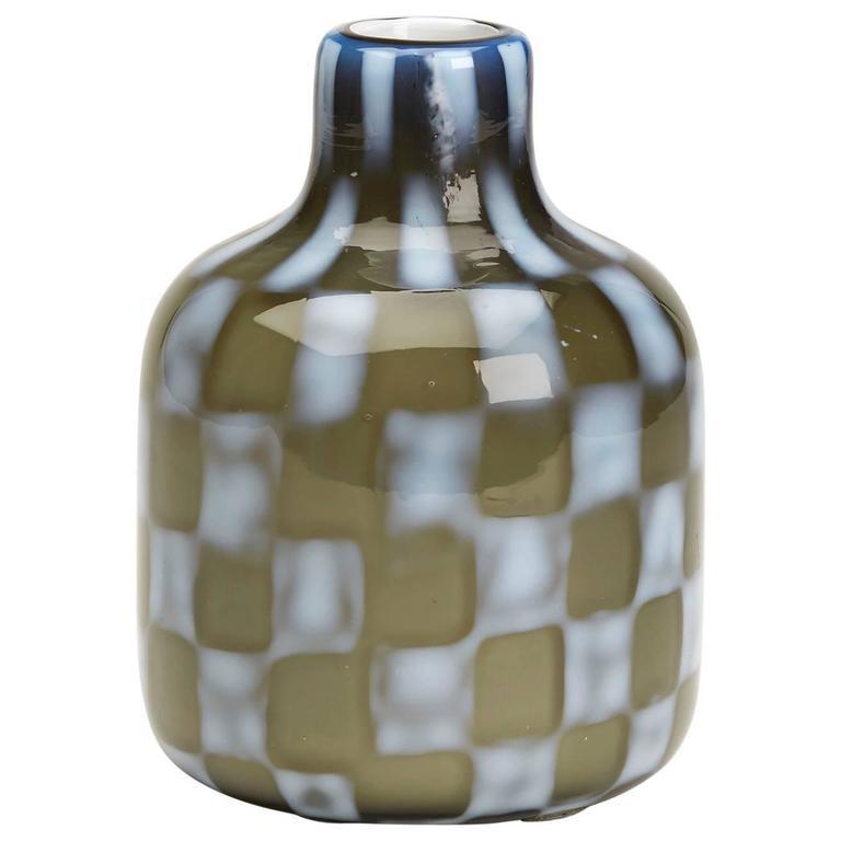 Vintage Italian Murano Pezzato Art Glass Vase, 20th Century For Sale