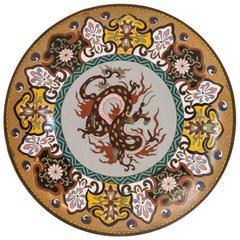 Japanese Cloisonné Plate, 1880