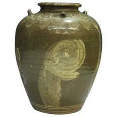 Wonderful Antique Sleeve Dancer Glazed Vessel from Korea