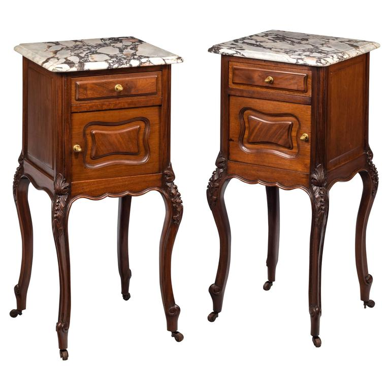 Pair of Late 19th Century Walnut Small Cupboards