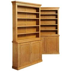 Bookcase And Space Divider Transversal Made Of Maple Solid Wood For