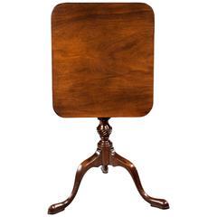 Late 19th Century Small Mahogany Tilt Table