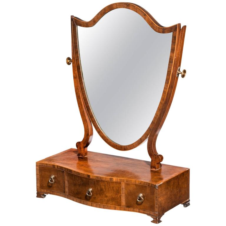 George III Period Mahogany Dressing Mirror