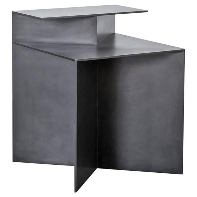 Tack End Table A by Uhuru Design, hand blackened steel
