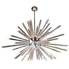 Mid-Century Modern Glass Sputnik Chandelier
