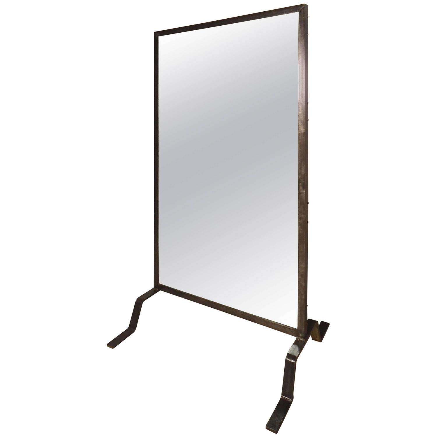 Immense Industrial Standing Mirror For Sale At 1stdibs