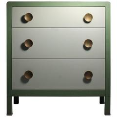 Simmons Norman Bel Geddes Deco Steel Industrial Dresser or Small Buffet Cabinet