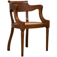 19th Century Louis Philippe Restauration Style Cane Seat Armchair