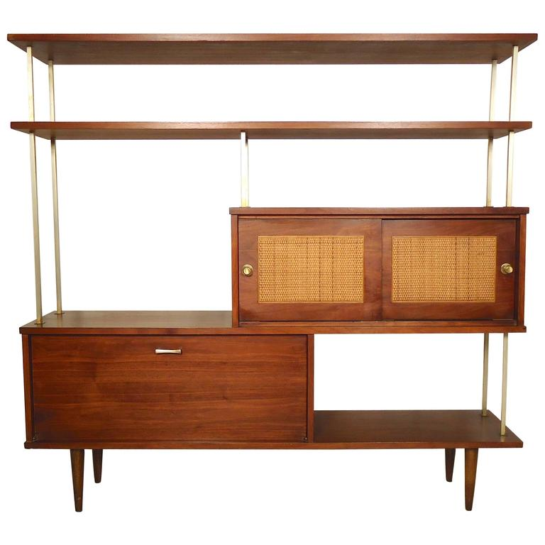 Paul mccobb style 1960s modern wall unit or bar for sale for Modern wall bar unit