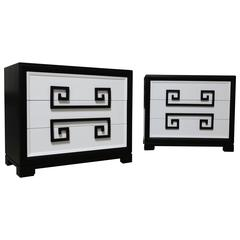 "Pair of ""Greek Key"" Chest by Kittinger"