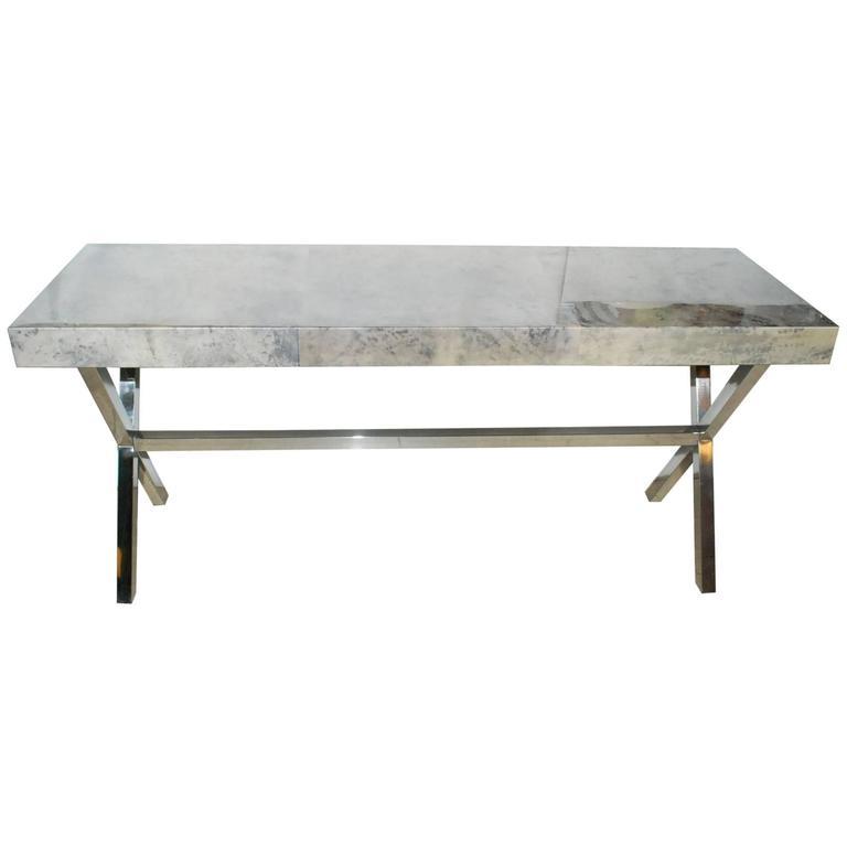 Parchment Console Table