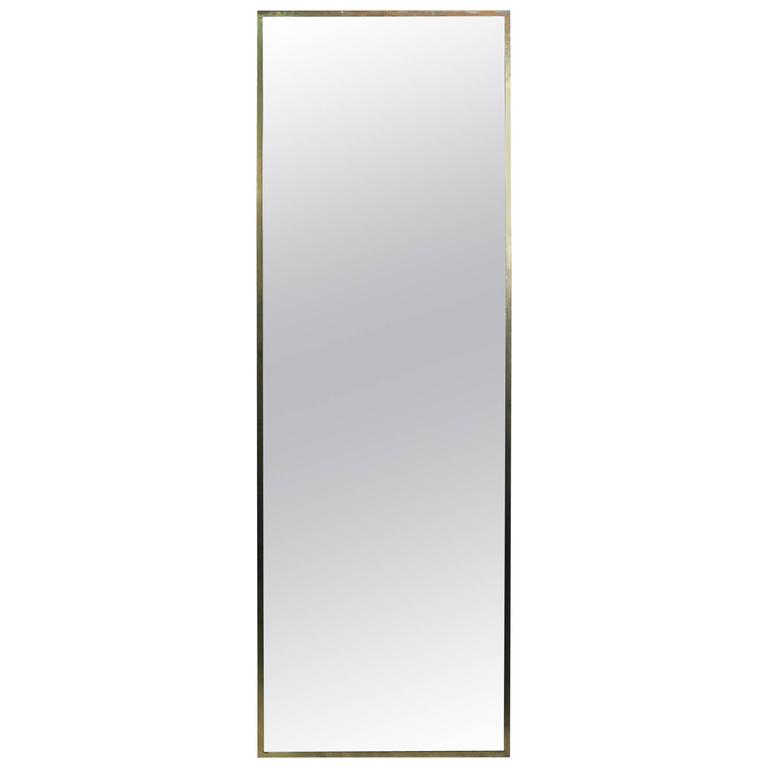Paul McCobb Brass Wall Mirror for Calvin