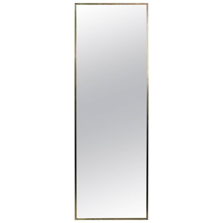 Paul McCobb Brass Wall Mirror for Calvin