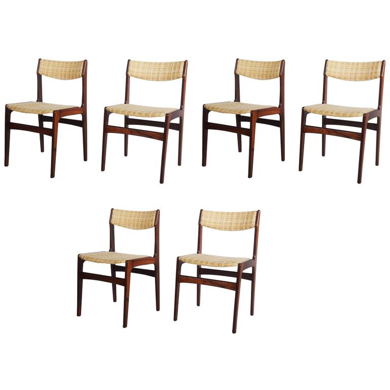 Set of Six Mid-Century Danish Rosewood Dining Chairs 1