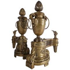 French Brass Chenets