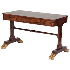 Regency Rosewood and Parcel-Gilt Library Table