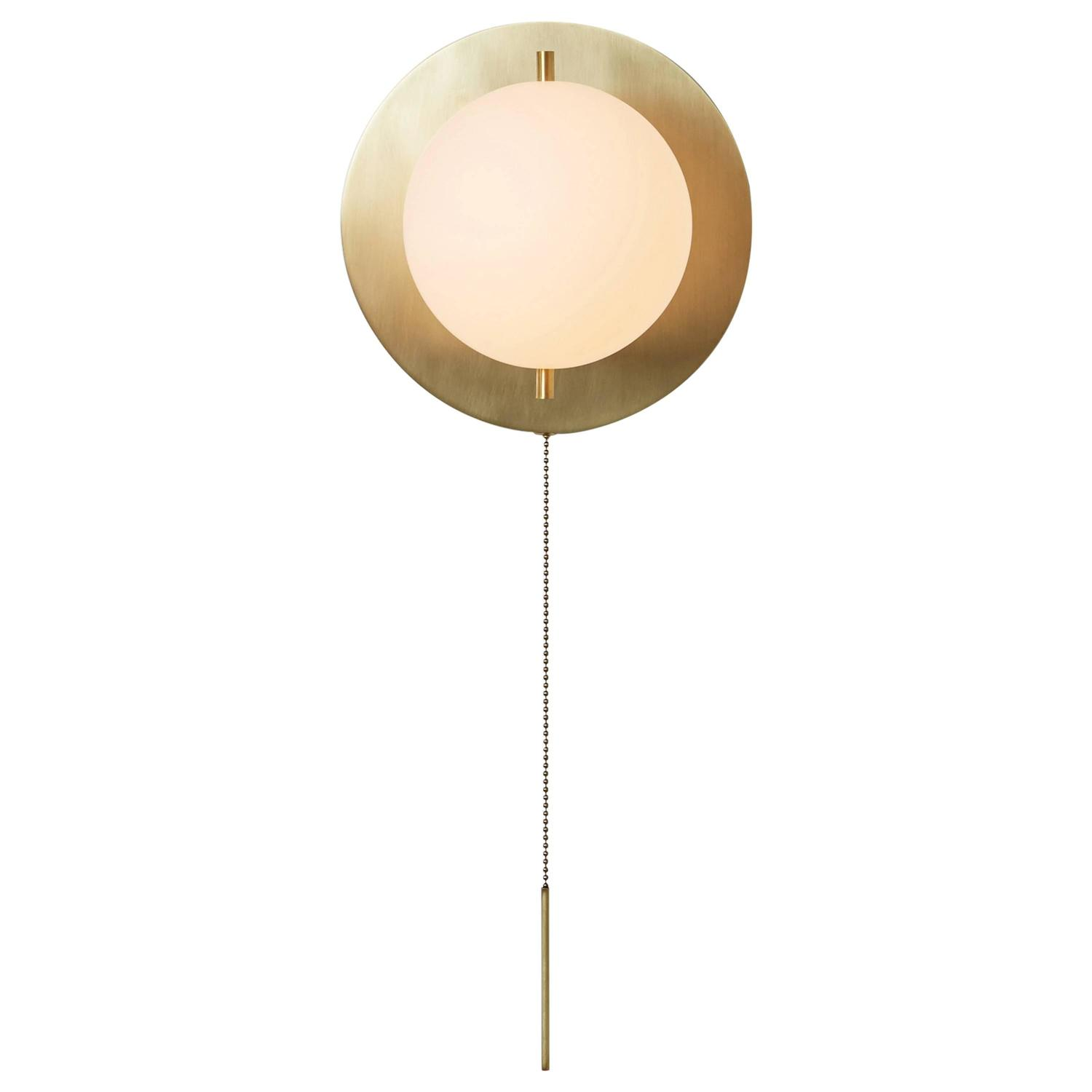 Signal brass globe sconce with pull chain for sale at 1stdibs arubaitofo Gallery