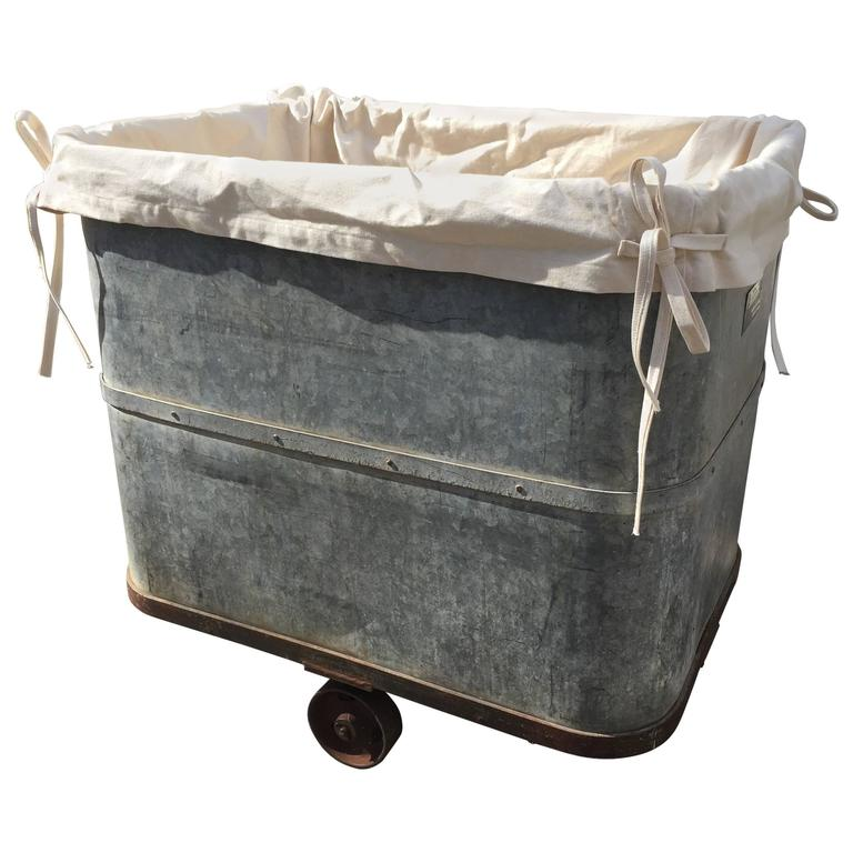 Industrial Laundry Cart With Liner And Working Original