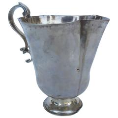 Large Spanish Colonial Silver Cup with Handle