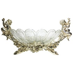 French 19th-20th Century Louis XV Style Silvered Christofle & Cie Centerpiece