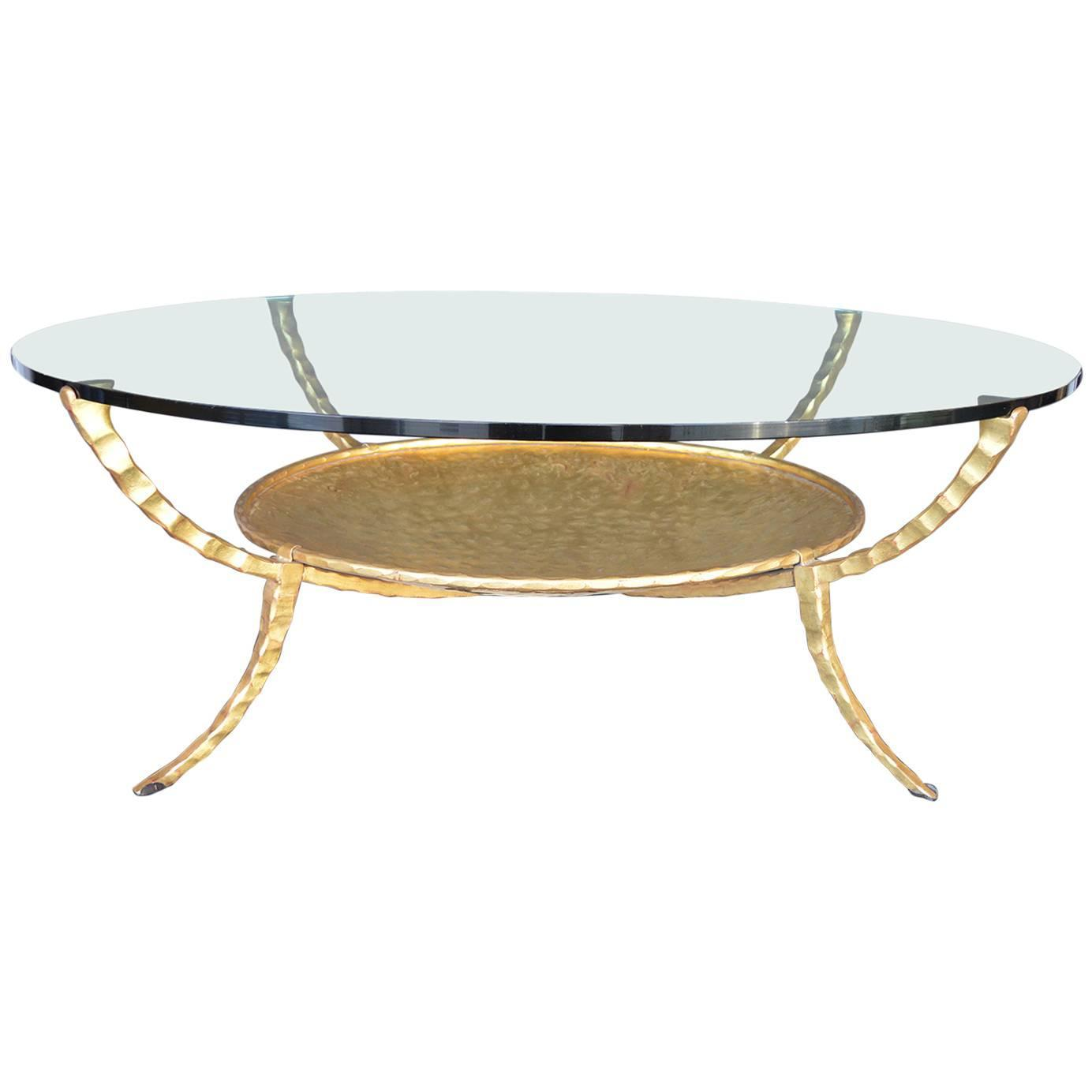 Gold Leaf Iron Coffee Table For Sale At 1stdibs
