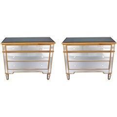 Pair of Mirrored Drawers