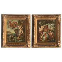 Exquisite Pair of 19th Century Old Master Paintings