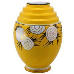 Liane Henri Delcourt French Art Deco Ceramic Vase, 1922